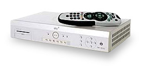 Sky Plus digibox and remote control.